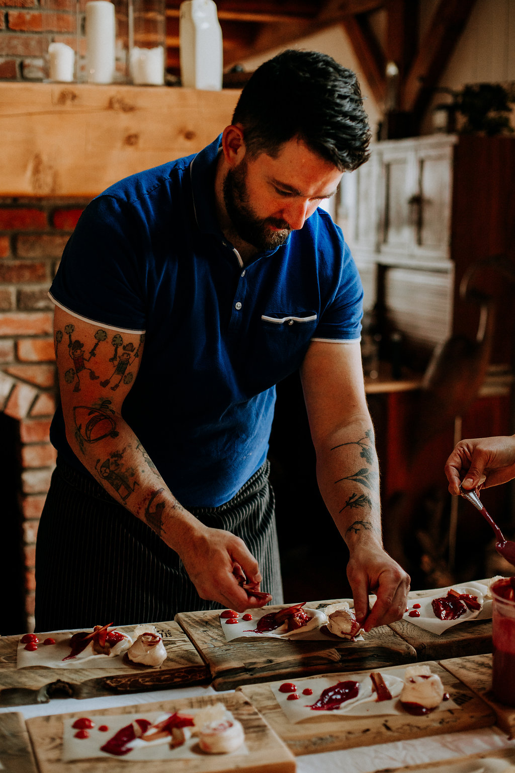 Chef Pierre prepares local food for a Season and Supply dinner in Calgary Alberta